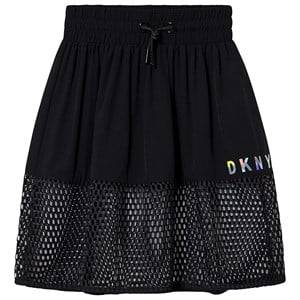 DKNY Mesh Logo Skirt Black 6 years