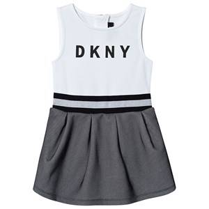 DKNY Logo Mesh Dress Black/White 10 years