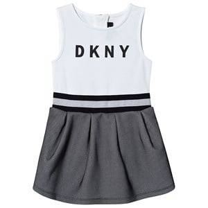 DKNY Logo Mesh Dress Black/White 14 years