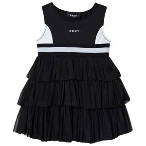 DKNY Logo Tulle Dress Black 12 years