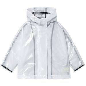 DKNY Logo Mesh Raincoat White Raincoats