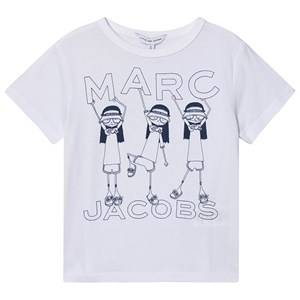 Little Marc Jacobs Miss Marc Coney Island Tee White 2 years