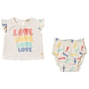 The Bonnie Mob Love Balearic Top & Bloomers Set Off White 3-6 Months