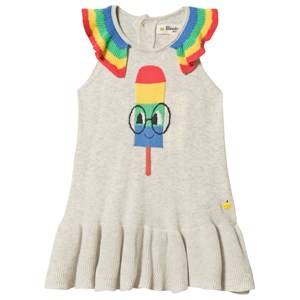The Bonnie Mob Popsicle Halkidiki Dress Putty 4-5 Years