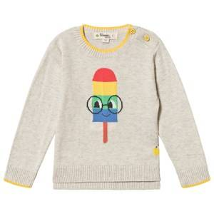 The Bonnie Mob Popsicle Hastings Sweater Putty 12-18 Months