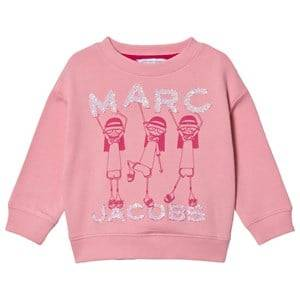 Little Marc Jacobs Dancing Miss Marc Sweatshirt Pink 3 years
