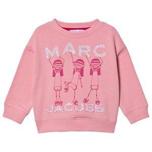 Little Marc Jacobs Dancing Miss Marc Sweatshirt Pink 8 years