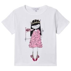 Little Marc Jacobs Miss Marc Flag T-Shirt White 3 years
