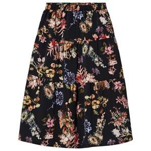 Christina Rohde Floral Long Skirt Black 10 Years