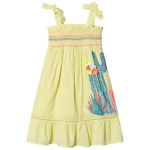 Image of Billieblush Smock Cacti Print Dress Yellow 6 years