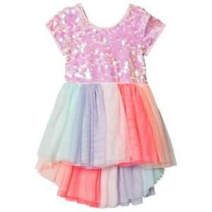 Image of Billieblush Tulle Skirt Dress with All Over Sequin Top Multi 8 years