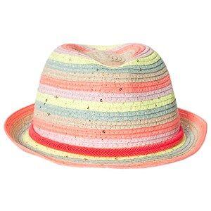 Billieblush Stripe Sequin Sun Hat Multi Trilbys and fedoras