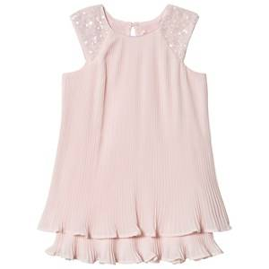 Billieblush Pleated Dress with Sequin Shoulder Pink 5 years