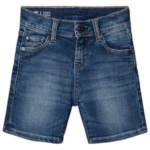 G-STAR RAW 3301 Slim Denim Shorts Blue Light Wash 8 years