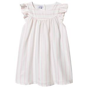 Image of Absorba Stripe Dress White/Pink 12 months