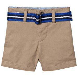 Ralph Lauren Belted Oxford Chino Shorts Beige 9 months