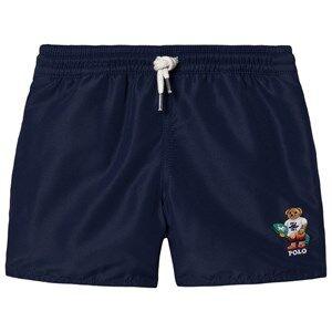 Ralph Lauren Embroidered Bear Swim Shorts Navy L (14-16 years)