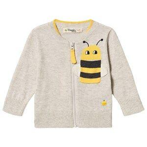 The Bonnie Mob Bee Goa Cardigan Putty 4-5 Years