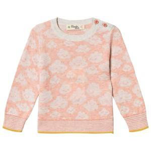 The Bonnie Mob Cloud Hope Sweater Peach 12-18 Months