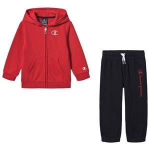 Champion Hooded Full Zip Track Suit Red/Navy 3 years
