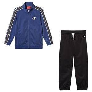Champion Full Zip Track Suit Blue/Black 7-8 years