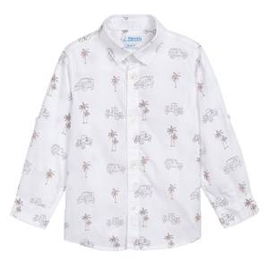Mayoral Palm Tree Shirt White 4 years