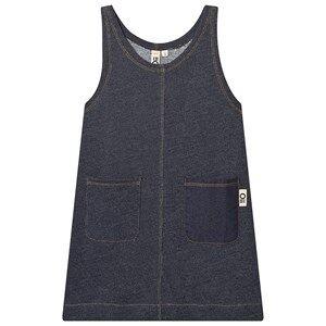 Oii Worker Dress Blue Denim 110/116 cm