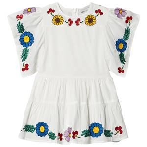 Image of Stella McCartney Kids Floral Embroidered Kimono Dress White 10 years