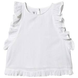 Image of Kiss How To Kiss A Frog Ruffle Sleeve Moi Tank Top White 6 Years