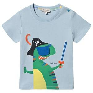Paul Smith Junior Interactive Eye Patch Dino Aldo Tee Pale Blue 9 months