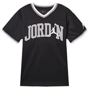 Air Jordan Logo Mesh Tee Black 12-13 years
