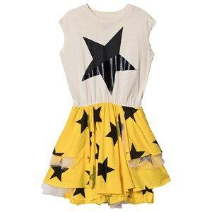 NUNUNU Layered Star Tulle Dress Natural 2-3 Years