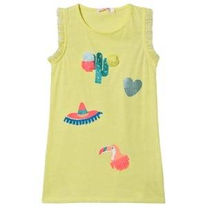 Image of Billieblush Cacti and Toucan Print Tank Dress Florescent Yellow 4 years