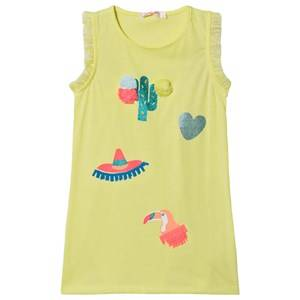 Image of Billieblush Cacti and Toucan Print Tank Dress Florescent Yellow 8 years