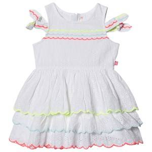Image of Billieblush Broderie Anglaise Detail Tie Sleeve Dress White 3 years