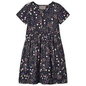 Creamie Jersey Dot Dress Total Eclipse 122 cm (6-7 Years)
