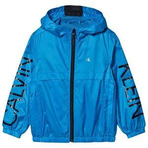 Image of Calvin Klein Jeans Logo Windbreaker Coastal Blue 4 years