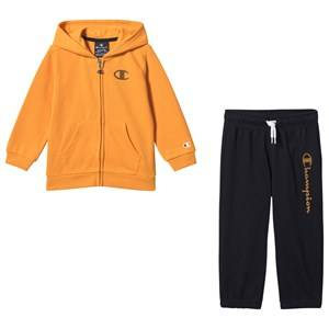 Champion Hooded Full Zip Track Suit Yellow/Navy 2 years