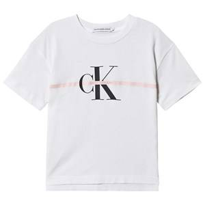 Image of Calvin Klein Jeans Monogram Logo Tee Bright White 8 years