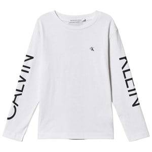 Image of Calvin Klein Jeans Logo Long Sleeve Tee Bright White 6 years
