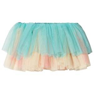 Image of Bloch Color Contrast Tutu Skirt Blue/Yellow/Pink 8-10 years