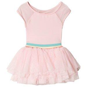 Image of Bloch Cap Sleeve Mabel Tutu Dress Candy Pink/Gelato Stripe 6-7 years