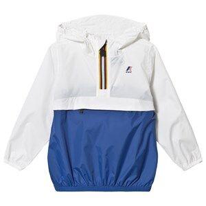K-Way Le Vrai 3.0 Leon Jacket White/Royal Blue Raincoats
