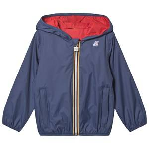 K-Way Jacques Plus Double Jacket Dark Blue/Red Raincoats