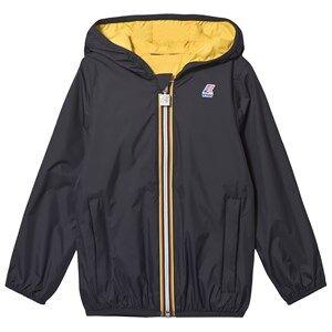 K-Way Jacques Plus Double Jacket Deep Blue/Yellow Raincoats