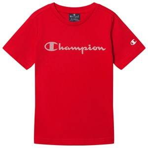 Champion Logo Tee Red 7-8 years