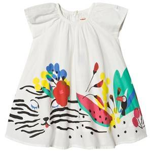 Image of Catimini Tiger and Floral Print Dress White 2 years