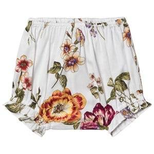 Christina Rohde Floral Shorts with Ruffles White 6 Months