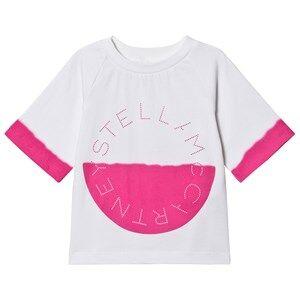 Stella McCartney Kids Branded Tee White/Pink 12 years