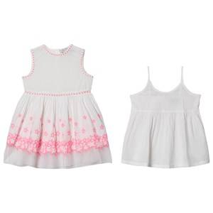 Image of Stella McCartney Kids Embroidered Stars Dress White/Pink 8 years